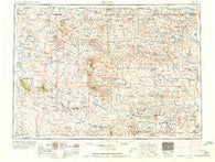 Lemmon South Dakota Historical topographic map, 1:250000 scale, 1 X 2 Degree, Year 1954