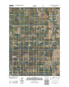 Lone Well Creek East South Dakota Historical topographic map, 1:24000 scale, 7.5 X 7.5 Minute, Year 2012