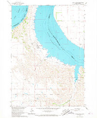 Lower Brule South Dakota Historical topographic map, 1:24000 scale, 7.5 X 7.5 Minute, Year 1966