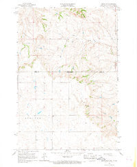 Mahto NW South Dakota Historical topographic map, 1:24000 scale, 7.5 X 7.5 Minute, Year 1966