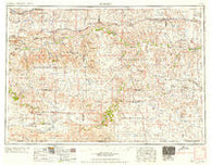 Martin South Dakota Historical topographic map, 1:250000 scale, 1 X 2 Degree, Year 1958