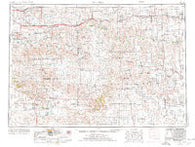 Martin South Dakota Historical topographic map, 1:250000 scale, 1 X 2 Degree, Year 1955