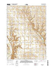 Mayfield South Dakota Current topographic map, 1:24000 scale, 7.5 X 7.5 Minute, Year 2015 from South Dakota Maps Store