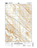 Middle Creek Butte South Dakota Current topographic map, 1:24000 scale, 7.5 X 7.5 Minute, Year 2015 from South Dakota Map Store