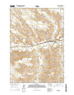 Midland South Dakota Current topographic map, 1:24000 scale, 7.5 X 7.5 Minute, Year 2015 from South Dakota Map Store