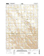 Midland NE South Dakota Current topographic map, 1:24000 scale, 7.5 X 7.5 Minute, Year 2015 from South Dakota Map Store