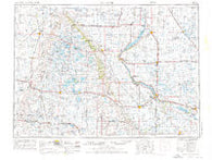 Milbank South Dakota Historical topographic map, 1:250000 scale, 1 X 2 Degree, Year 1953