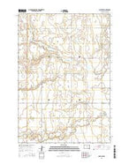 Miller NW South Dakota Current topographic map, 1:24000 scale, 7.5 X 7.5 Minute, Year 2015 from South Dakota Map Store