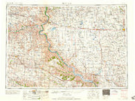 Mitchell South Dakota Historical topographic map, 1:250000 scale, 1 X 2 Degree, Year 1959