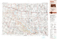 Mitchell South Dakota Historical topographic map, 1:250000 scale, 1 X 2 Degree, Year 1990