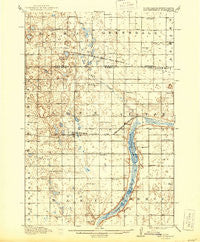 New Effington South Dakota Historical topographic map, 1:62500 scale, 15 X 15 Minute, Year 1917