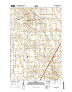 New Effington South Dakota Current topographic map, 1:24000 scale, 7.5 X 7.5 Minute, Year 2015 from South Dakota Map Store