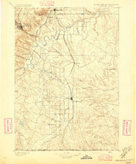 Oelrichs South Dakota Historical topographic map, 1:125000 scale, 30 X 30 Minute, Year 1896