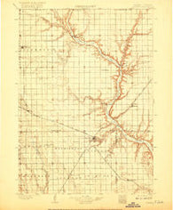 Olivet South Dakota Historical topographic map, 1:125000 scale, 30 X 30 Minute, Year 1898