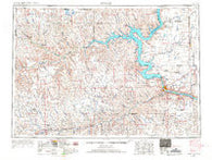 Pierre South Dakota Historical topographic map, 1:250000 scale, 1 X 2 Degree, Year 1954