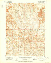 Potato Creek South Dakota Historical topographic map, 1:24000 scale, 7.5 X 7.5 Minute, Year 1950