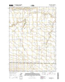 Ree Heights SE South Dakota Current topographic map, 1:24000 scale, 7.5 X 7.5 Minute, Year 2015
