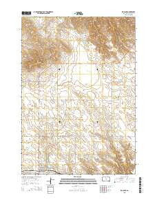 Reliance South Dakota Current topographic map, 1:24000 scale, 7.5 X 7.5 Minute, Year 2015