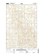 Seneca SW South Dakota Current topographic map, 1:24000 scale, 7.5 X 7.5 Minute, Year 2015 from South Dakota Map Store