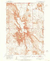 Sheep Mountain Table South Dakota Historical topographic map, 1:24000 scale, 7.5 X 7.5 Minute, Year 1950