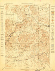 Sturgis South Dakota Historical topographic map, 1:62500 scale, 15 X 15 Minute, Year 1899