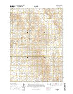 Toronto South Dakota Current topographic map, 1:24000 scale, 7.5 X 7.5 Minute, Year 2015 from South Dakota Map Store