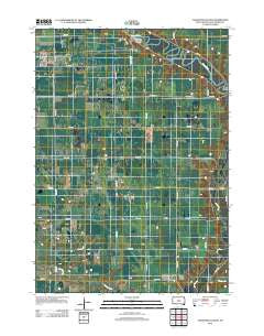 Tschetter Colony South Dakota Historical topographic map, 1:24000 scale, 7.5 X 7.5 Minute, Year 2012