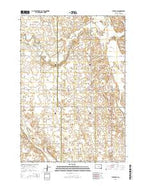 Tulare SW South Dakota Current topographic map, 1:24000 scale, 7.5 X 7.5 Minute, Year 2015 from South Dakota Map Store