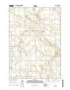 Tuthill South Dakota Current topographic map, 1:24000 scale, 7.5 X 7.5 Minute, Year 2015 from South Dakota Map Store