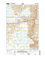 Waubay South Dakota Current topographic map, 1:24000 scale, 7.5 X 7.5 Minute, Year 2015 from South Dakota Maps Store