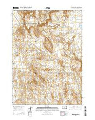 Willow Creek NE South Dakota Current topographic map, 1:24000 scale, 7.5 X 7.5 Minute, Year 2015