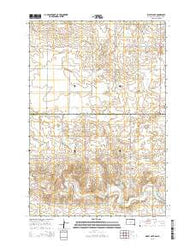 Wolff Lake South Dakota Current topographic map, 1:24000 scale, 7.5 X 7.5 Minute, Year 2015