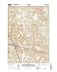 Wolsey South Dakota Current topographic map, 1:24000 scale, 7.5 X 7.5 Minute, Year 2015