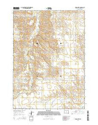 Wood North South Dakota Current topographic map, 1:24000 scale, 7.5 X 7.5 Minute, Year 2015
