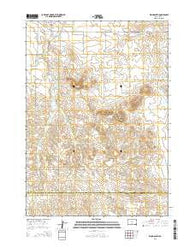 Wood South South Dakota Current topographic map, 1:24000 scale, 7.5 X 7.5 Minute, Year 2015