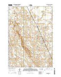 Woonsocket South Dakota Current topographic map, 1:24000 scale, 7.5 X 7.5 Minute, Year 2015