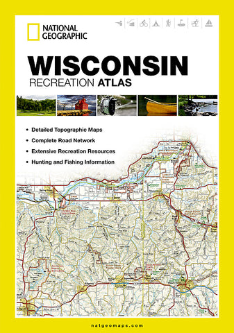 Buy map Wisconsin Recreation Atlas by National Geographic Maps
