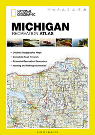 Buy map Michigan Recreation Atlas by National Geographic Maps