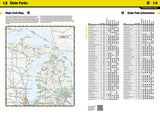Michigan Recreation Atlas by National Geographic Maps - Front of map