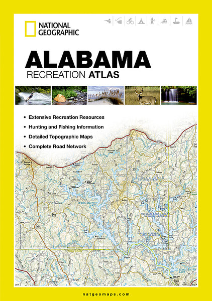 Buy map Alabama Recreation Atlas by National Geographic Maps