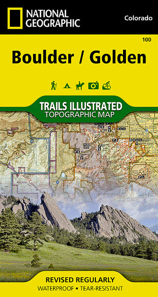 Buy map Boulder and Golden, Colorado, Map 100 by National Geographic Maps