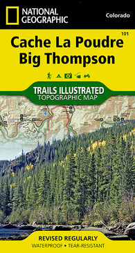 Buy map Cache La Poudre and Big Thompson, Colorado, Map 101 by National Geographic Maps