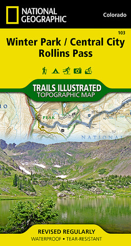 Buy map Winter Park, Central City and Rollins Pass, Colorado, Map 103 by National Geographic Maps
