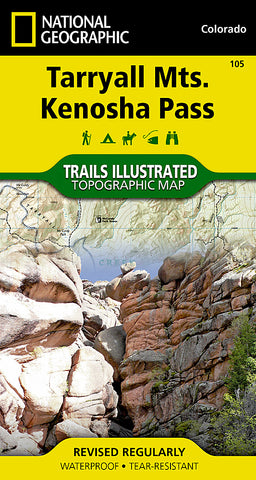 Buy map Tarryall Mountains and Kenosha Pass, Map 105 by National Geographic Maps