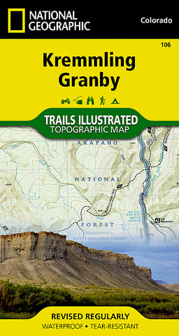 Buy map Kremmling and Granby, Colorado, Map 106 by National Geographic Maps