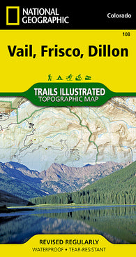 Buy map Vail, Frisco and Dillon, Colorado, Map 108 by National Geographic Maps