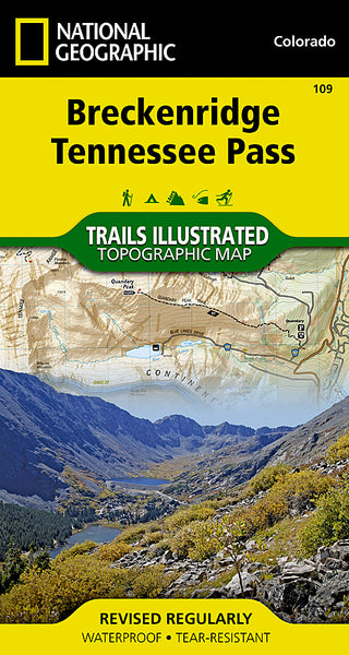 Buy map Breckenridge and Tennessee Pass, Colorado, Map 109 by National Geographic Maps