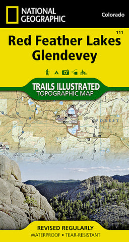 Buy map Red Feather Lakes and Glendevey, Map 111 by National Geographic Maps