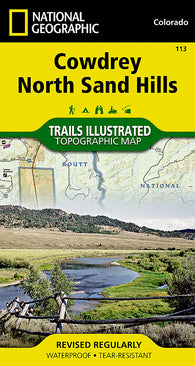 Buy map Cowdrey and North Sand Hills, Map 113 by National Geographic Maps