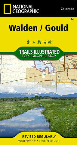 Buy map Walden and Gould, Colorado, Map 114 by National Geographic Maps